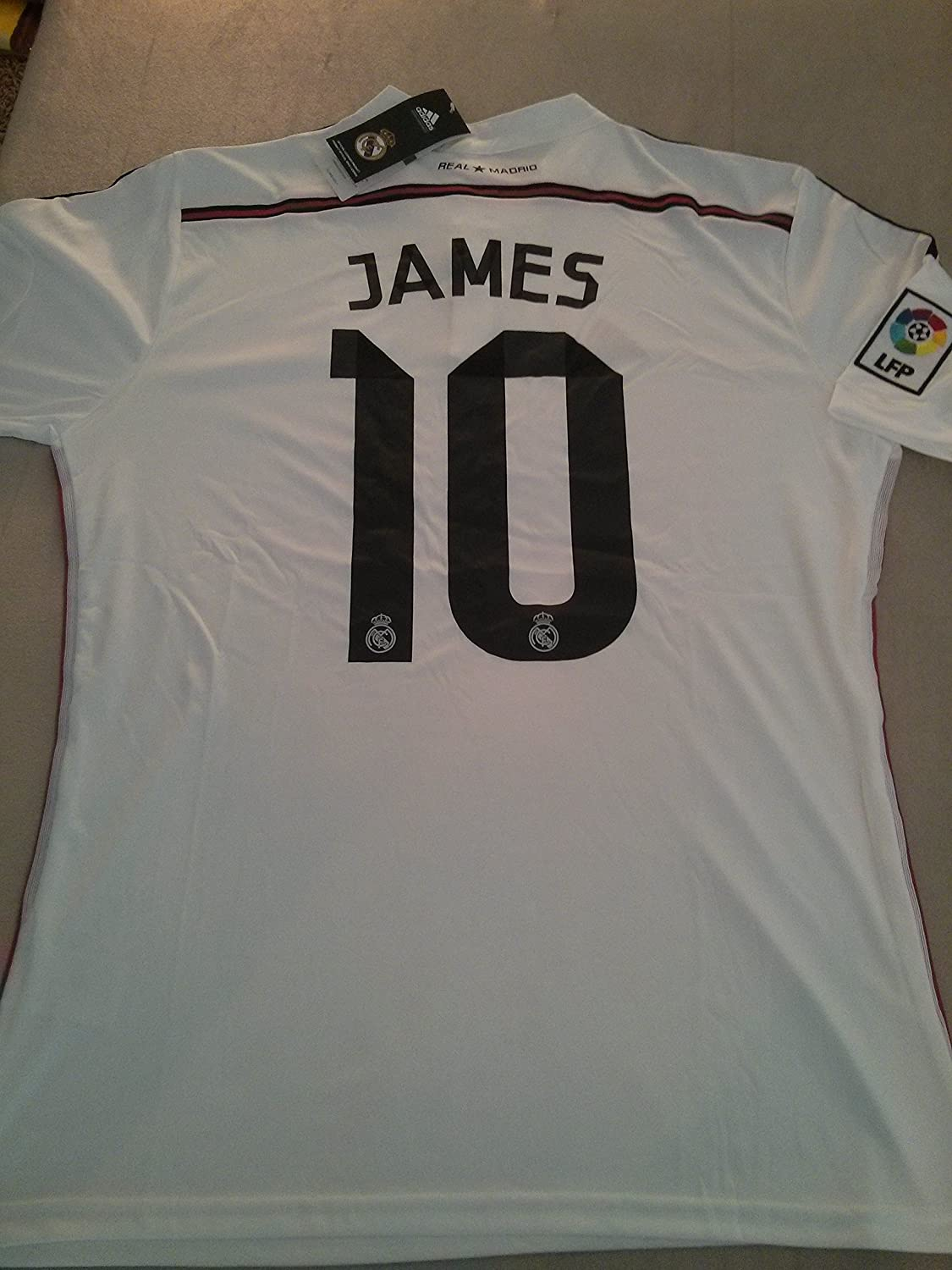 Adidas James #10 Real Madrid Home Jersey 2015(Authentic name and number of player)/サッカーユニフォーム レアルマドリード ホーム用 背番号10 ハメス 2015 (XL) B00M7IFKTO