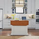 Americana White & Distressed Oak Kitchen Island