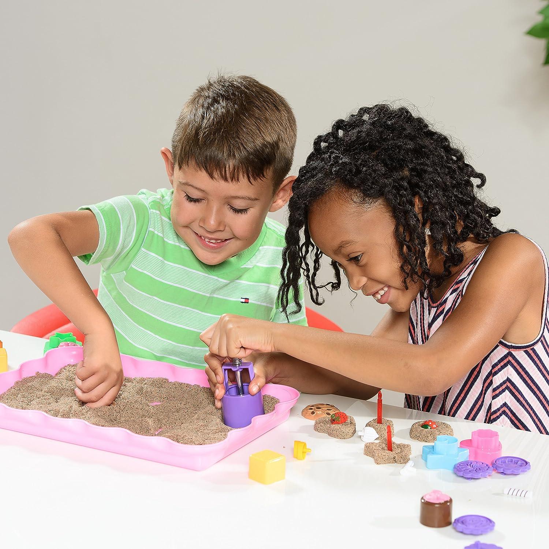 Kinetic Sand Molds and Tools Kit - 37 Piece Baking Theme Kinetic Sand Molds and Tray + Sand Art Tools for Moon Dough Brookstone Magic Sand and More USA Toyz