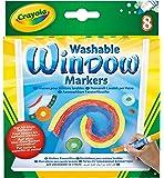 Crayola - 8 rotuladores para ventana con tinta lavable (58-8165)