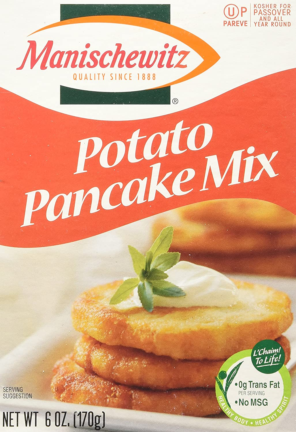 Amazon Com Manischewitz Potato Pancake Mix 6 Ounce Boxes Pack Of