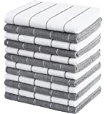 Gryeer 12 Pack Microfiber Kitchen Towels, Super Absorbent, Soft, and Lint Free Dish Towels, 18 x 26 Inch, Stripe…