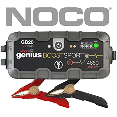 NOCO Boost Sport GB20 400 Amp 12V UltraSafe Lithium Jump Starter for up to 4L Gasoline Engines
