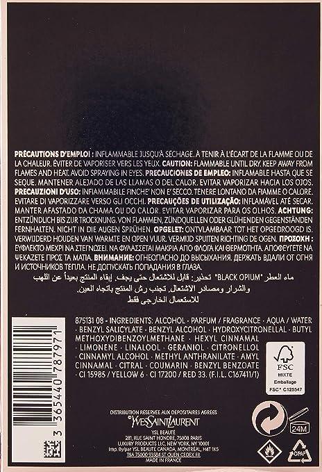 outlet store 9168c 1b75d Amazon | イヴサンローラン Black Opium Eau De Parfum Spray ...