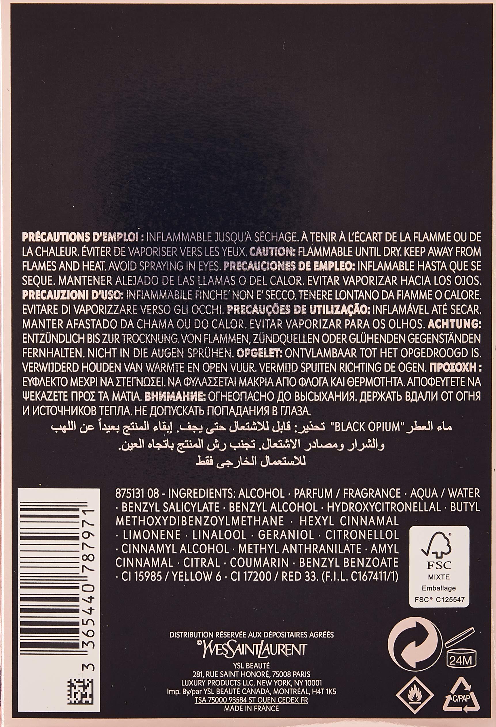 Yves Saint Laurent Eau De Parfum Spray for Women, Black Opium, 3 Ounce by Yves Saint Laurent (Image #2)