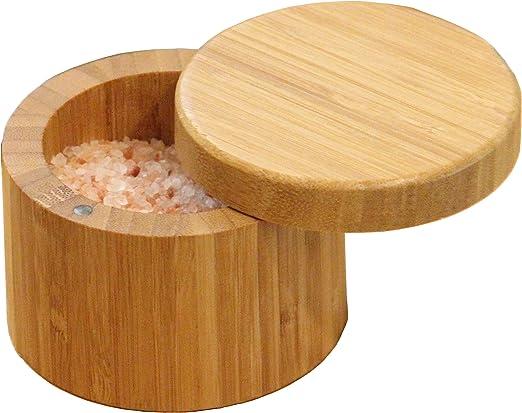 Redondo de bambú sal caja respetuoso con el medio ambiente, 100 ...