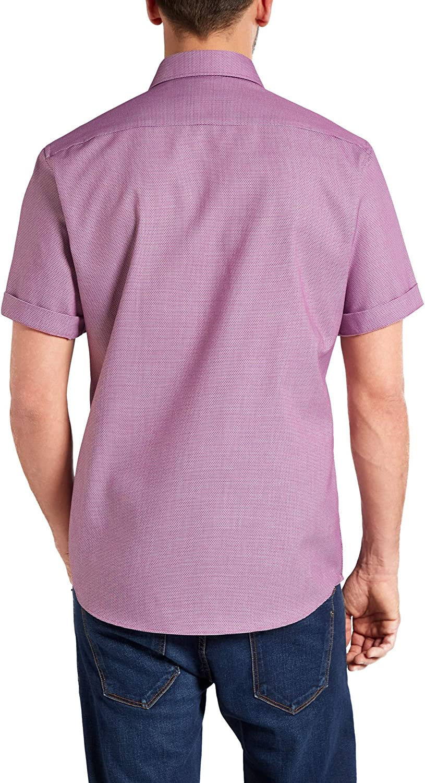 eterna Kurzarm Hemd Modern Fit strukturiert