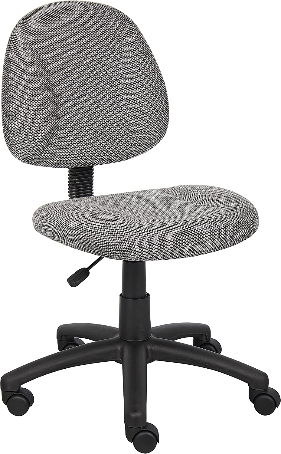 Boss Office Products Perfect Posture Delux Fabric Task Chair without Arms in Grey