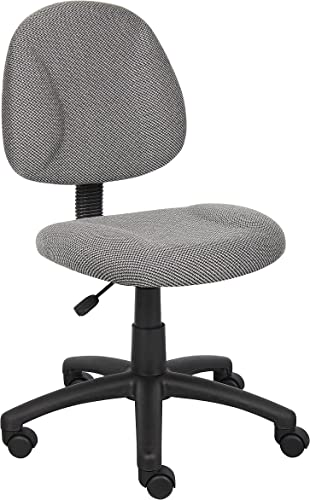 Boss Office Products Perfect Posture Delux Fabric Task Chair without Arm