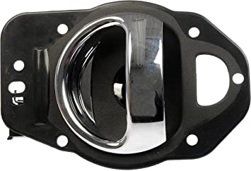 Black and Chrome Dorman 84072 Rear Driver Side Interior Door Handle for Select Chrysler Models