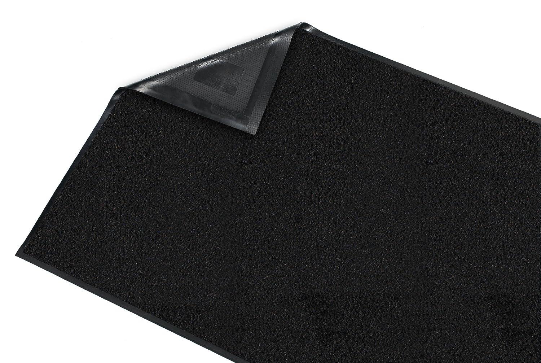 Black Rubber with Nylon Carpet Guardian Platinum Series Indoor Wiper Floor Mat 3x7