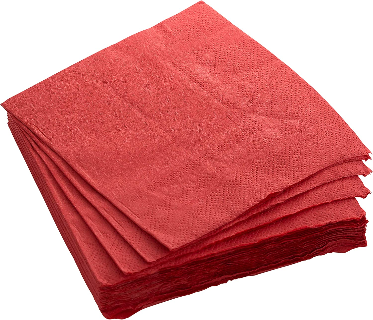 Exquisite 300 Pack of Beverage Paper Napkins The 2 Ply Party Napkins are Highly Absorbent and Available in a Wide Range of Vibrant Colors - Red Napkin.