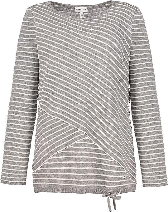 TALLA XL. GINA LAURA Pullover, Diagonalstreifen, Saumband suéter para Mujer
