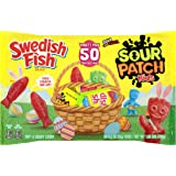 Sour Patch Kids and Swedish Fish Easter Candy Variety Pack, 1.65 Pound