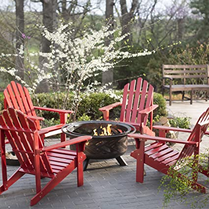 Gentil Outdoor Fire Pit Chat Furniture Set Pleasant Bay Adirondack Aspen Fire  Place Chair Seats Collection