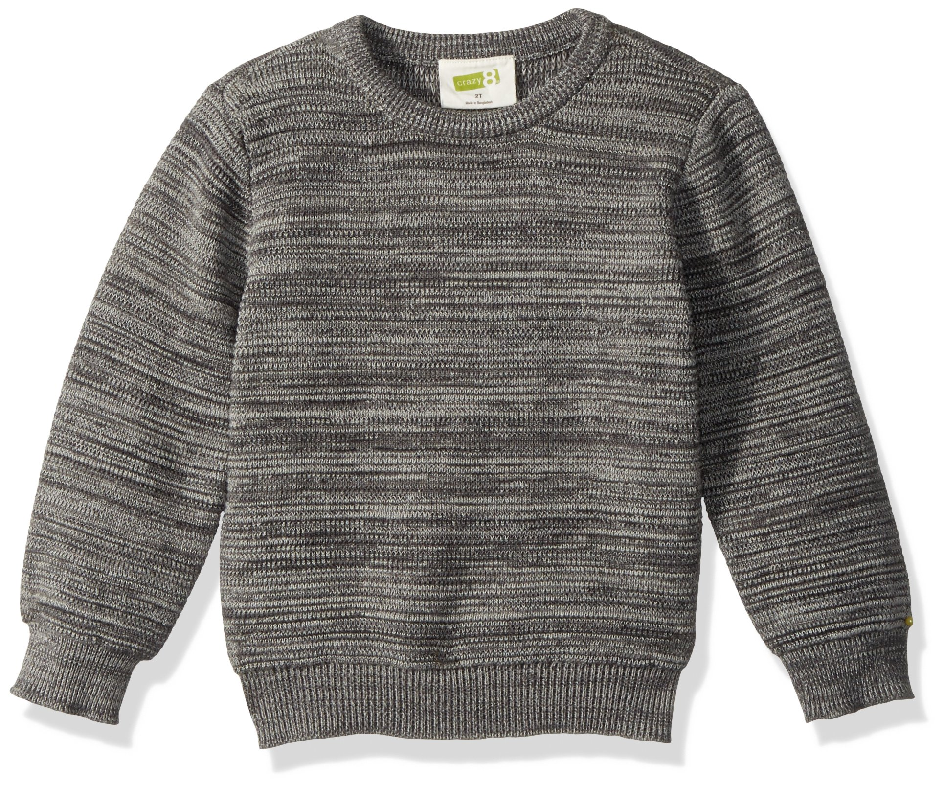 Crazy 8 Toddler Boys' Long Sleeve Sweater, Heather Grey, 4T