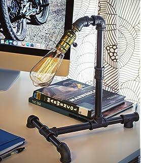 Lights & Lighting American Retro Industrial Novel Table Lamp Creative Water Pipe Desk Light Bedroom Study Reading Bar Restaurant Lamp Terrific Value Led Table Lamps