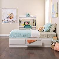 Amazon.com deals on Prepac White Twin Mates Platform Storage Bed w/3 Drawers
