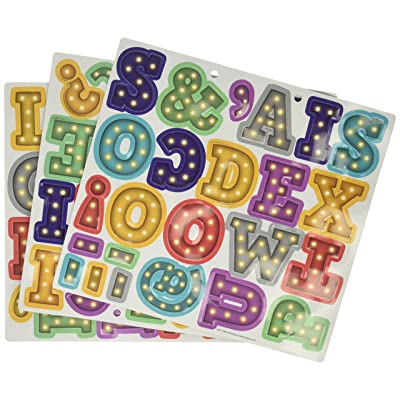 "Marquee Bold Block 2"" Magnetic Letters: Office Products"