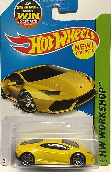 amazoncom hot wheels 2015 hw workshop lamborghini huracan lp 610 4 222250 yellow toys games