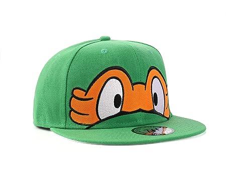 Tortugas Ninja - Gorra de béisbol gorra de visera plana ajustable, naranja, Ajustable