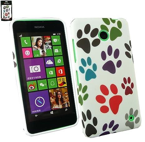 Emartbuy® Nokia Lumia 630 / Lumia 635 TPU Gel Funda Carcasa Case Cover Paws