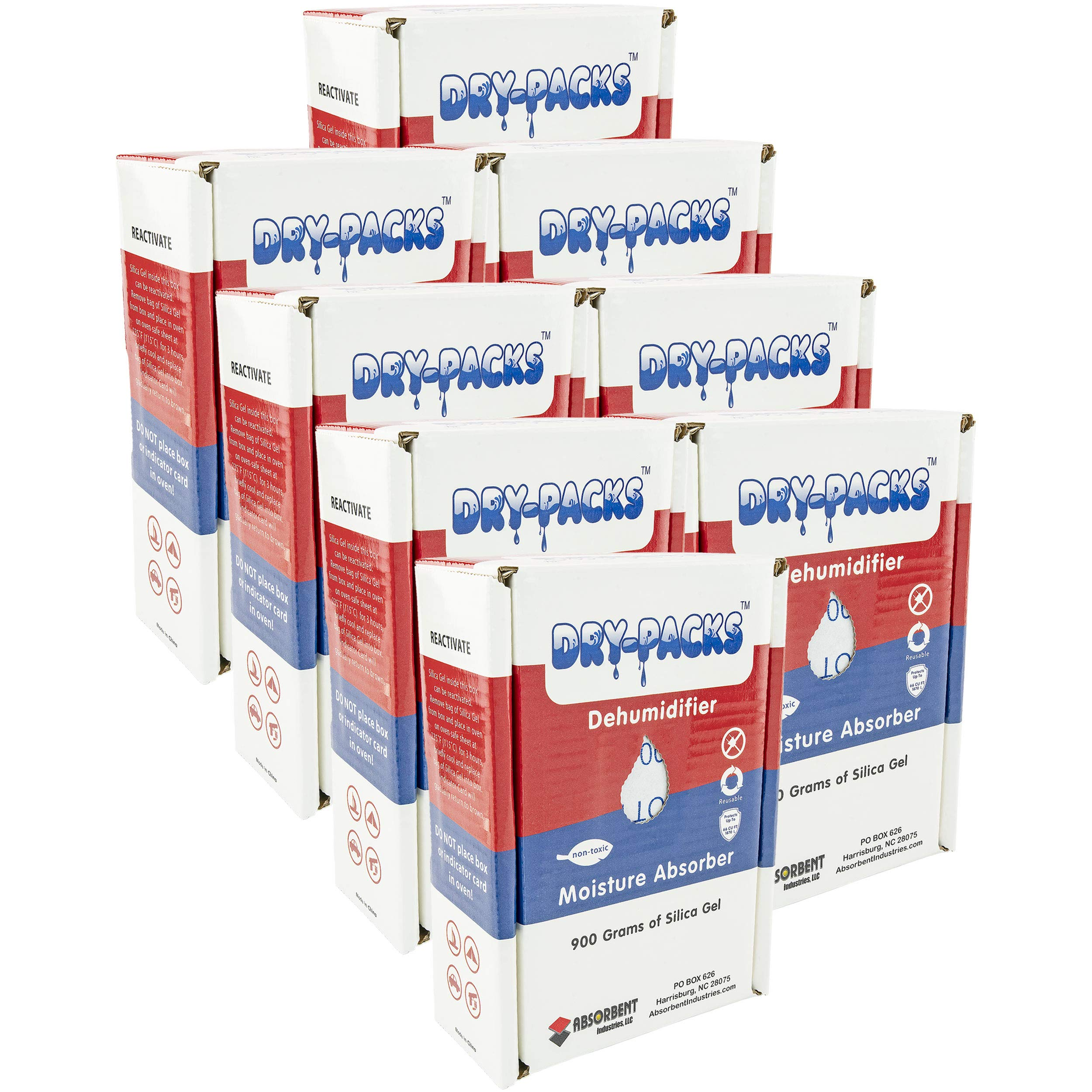 Dry-Packs DP900BOX-8pk 900gm Dehumidifying Box, Pack of 8, 8-Pack White by Dry-Packs