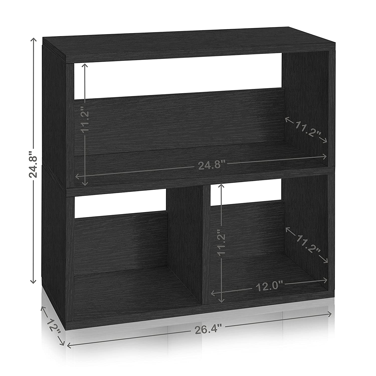 Amazoncom Way Basics Eco Friendly Collins Cubby Bookshelf And Organizer,