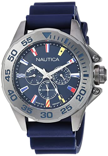 Nautica Reloj Analogico para Hombre de Cuarzo con Correa en Silicona NAPMIA008: Amazon.es: Relojes