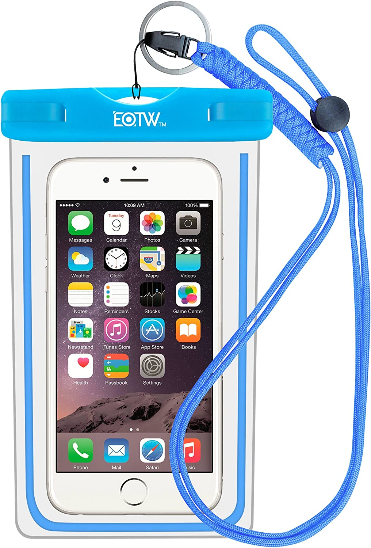 EOTW Funda Impermeable IPX8 Universal para deportes acuaticos para Iphone 6/6S +, Samsung S6/Edge/S5/S4 hasta 6 pulgadas.: Amazon.es: Deportes y aire libre