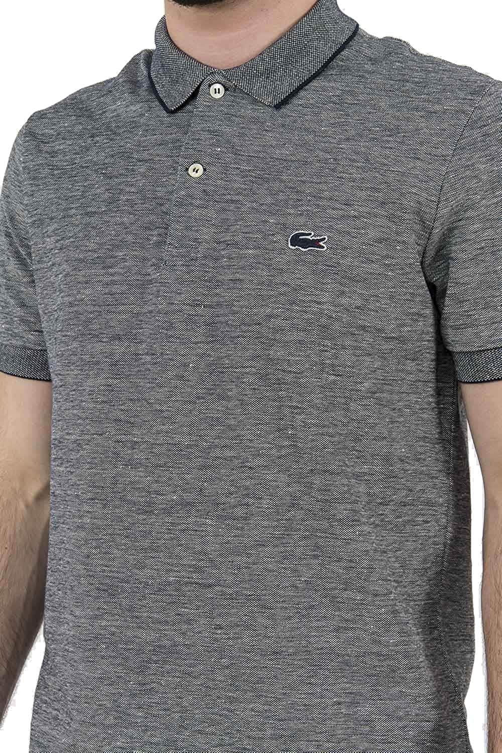Polo Uomo Lacoste VII Grigio Ph2062 Primavera Estate 2017: Amazon ...