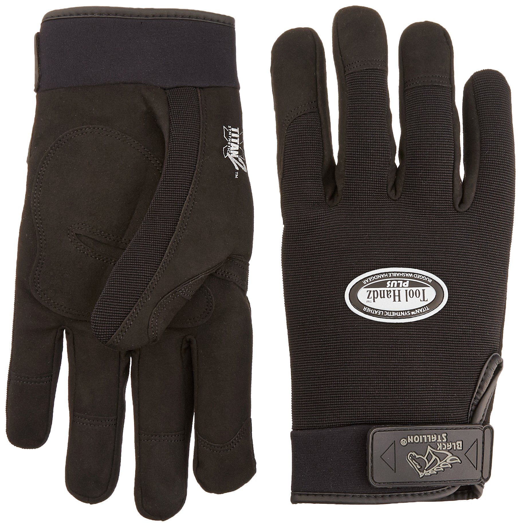 Revco 99PLUS-BLACK-2XL Tool Handz Plus Reinforced Snug-Fitting Gloves, Synthetic, XX-Large  (12 Pairs)