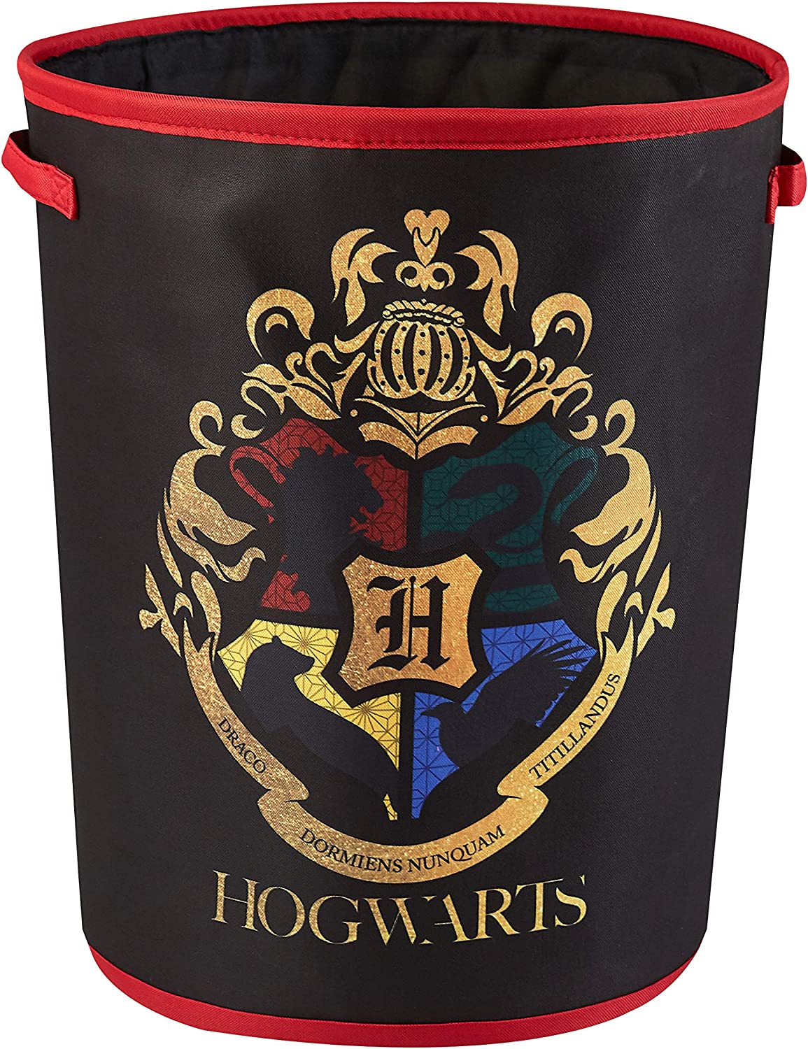 Harry Potter Circular Storage Bin with Handles, Black