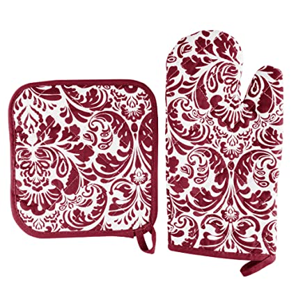 fbfbdb6df91 Image Unavailable. Image not available for. Color  Oven Mitt And Pot Holder  Set