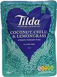 Tilda Steamed Basmati Coconut Chilli and Lemongrass Rice 250 g (Pack of 6)