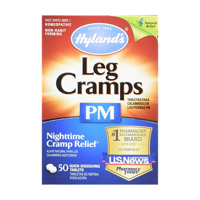 Hyland's Night Time Leg Cramps PM Tablets, Nat...