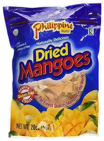 Philippine Dried Mangoes - 20 Oz  Bag - Healthy Fruit Snacks