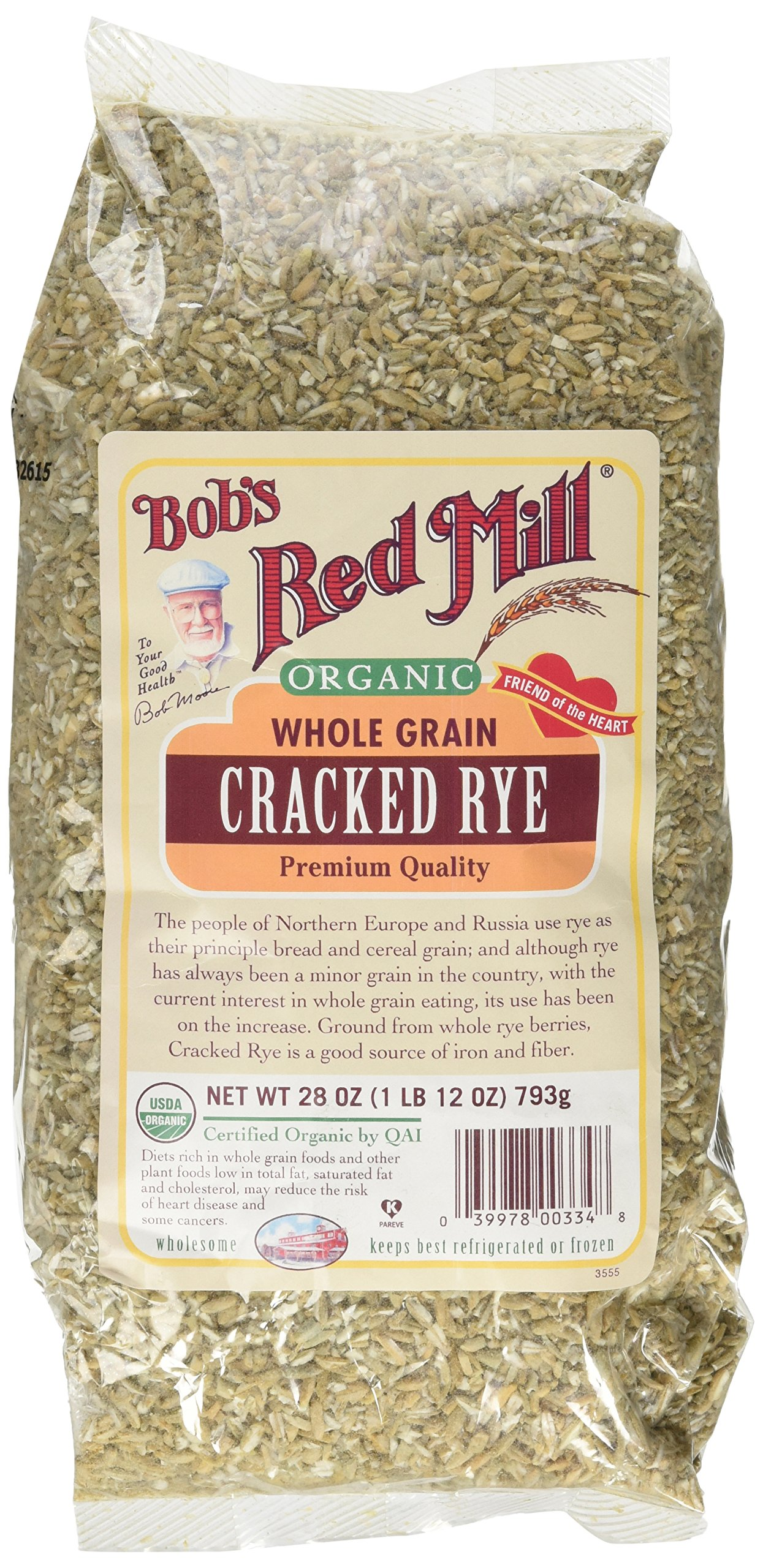 Bob's Red Mill Organic Cracked Rye, 28-ounce