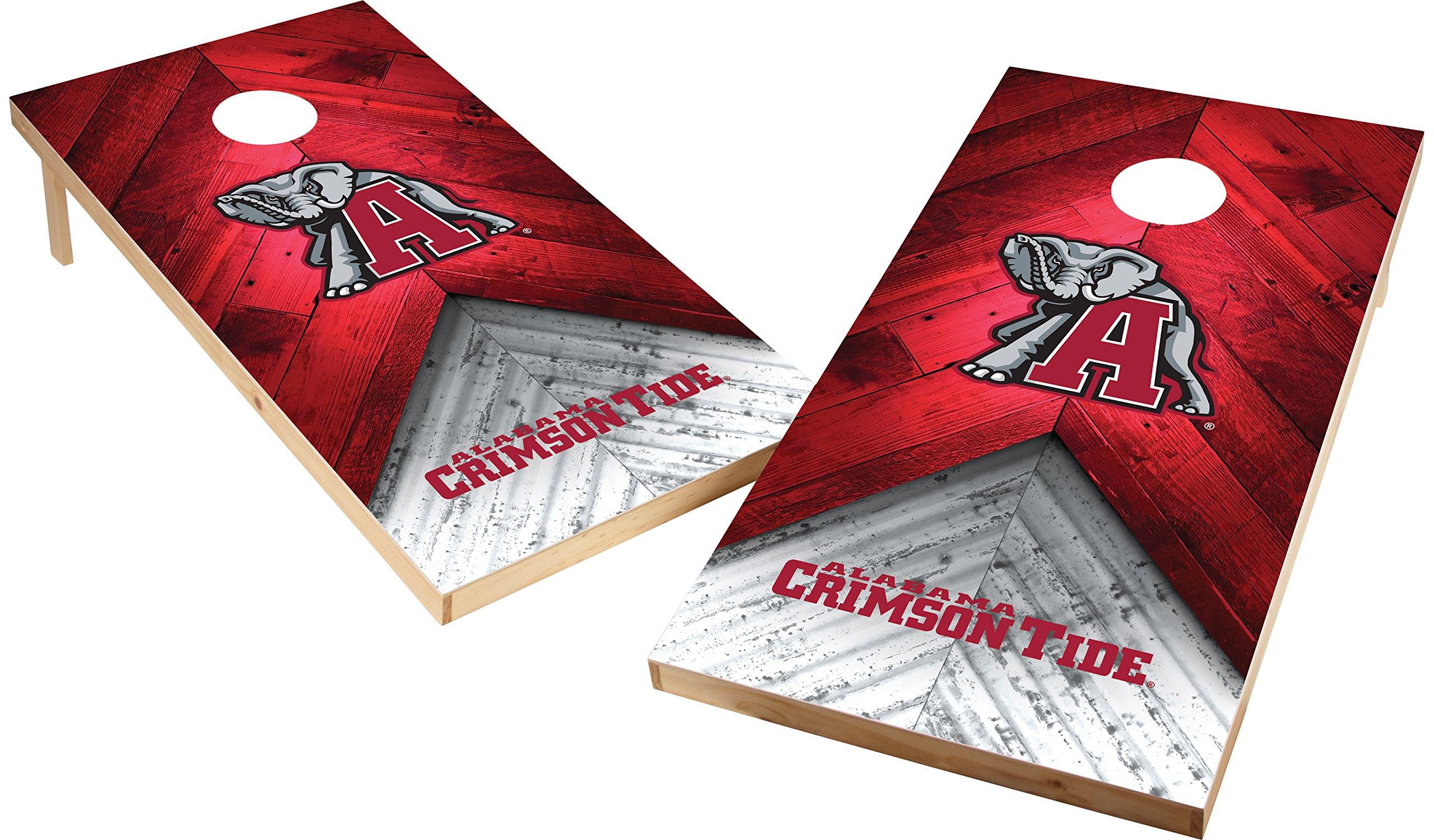 Wild Sports NCAA College 2'x4' Alabama Crimson Tide Cornhole Set