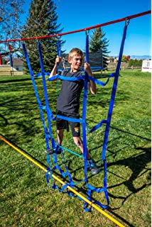 Amazon Com Ninja Warrior Hanging Obstacle Course For Kids 40ft