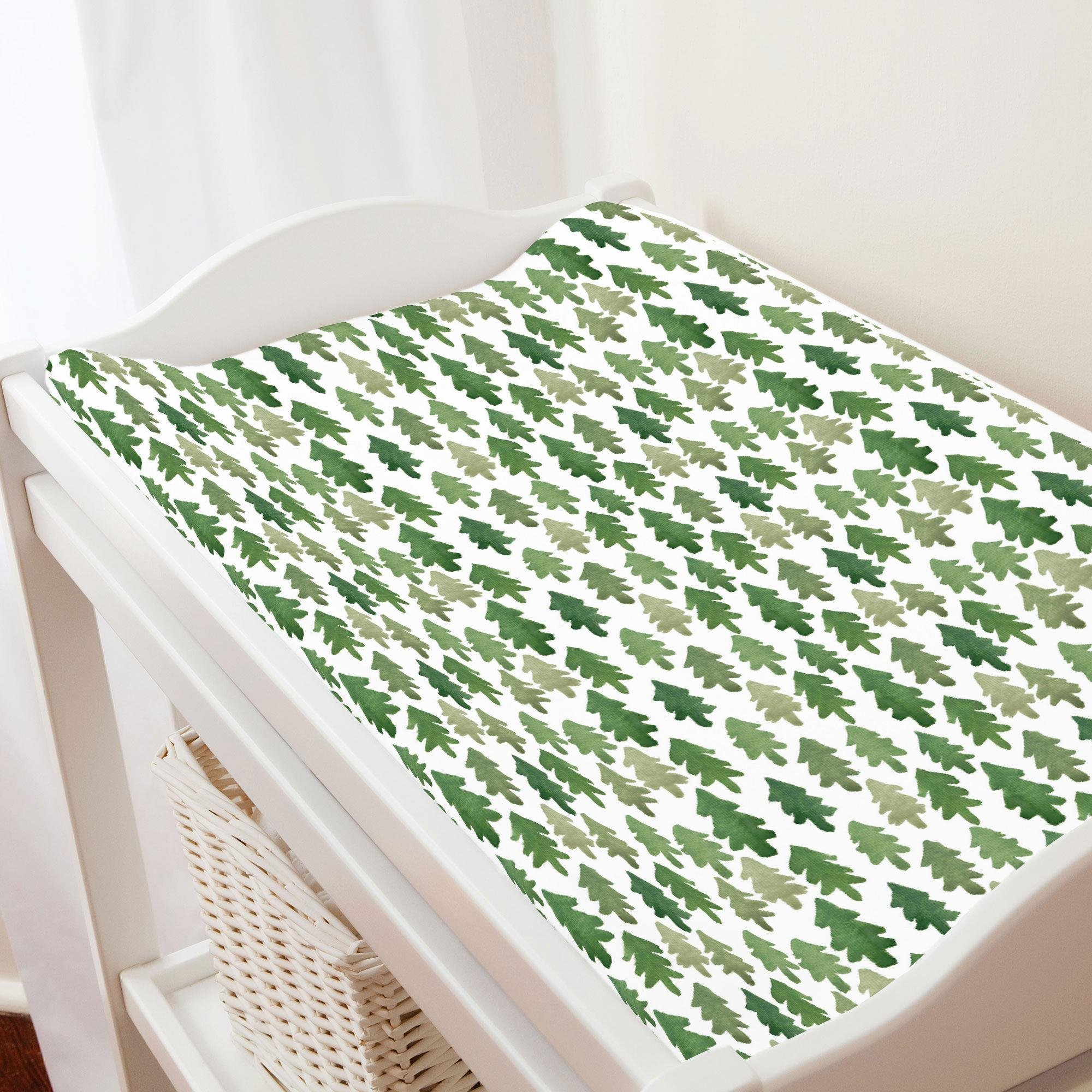 Carousel Designs Evergreen Forest Changing Pad Cover   Organic 100% Cotton  Change Pad Cover