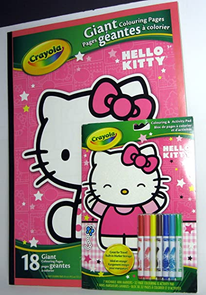 Hello Kitty Giant Coloring Pages Bundle Travel And Activity Pad Incuded Also Comes