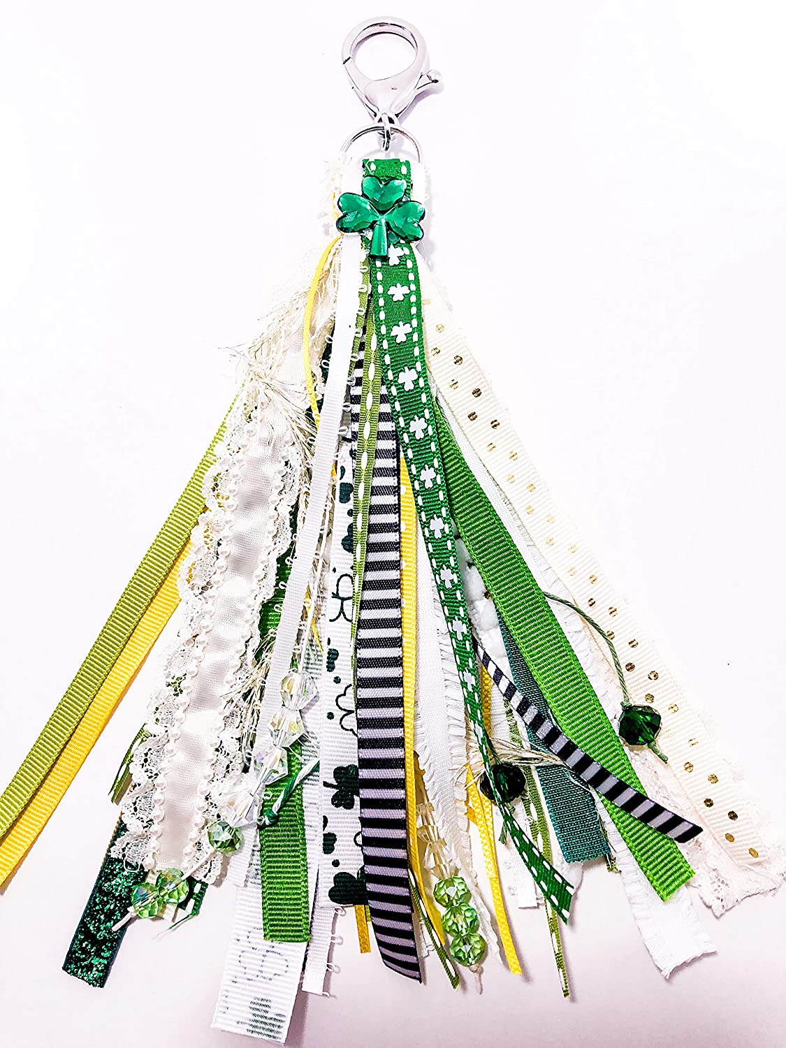 St Patricks day planner or purse tassel dangle