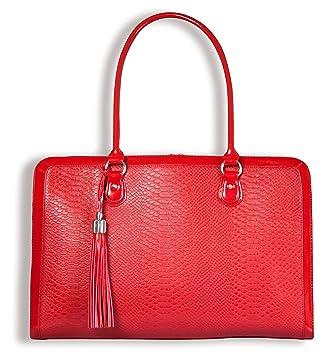 My Best Friend is a Bag - Mi Mejor Amigo es una Bolsa de Hombro del Ordenador portátil Ligero Bolsa de 17 Pulgadas para Las Mujeres, Rojo: Amazon.es: ...