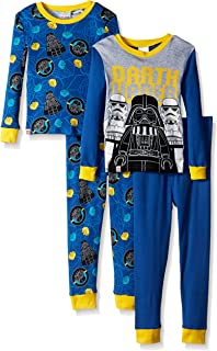 62e5bcfbb Amazon.com: Lego Star Wars Boys 2fer 4 pc Cotton Pajamas: Clothing