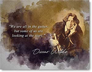 Ramini Brands Oscar Wilde We are All in The Gutter Inspirational Quote - 8 x 10 Unframed Print - Wall Art Bedrooms, Offices, Living Rooms - Makes a Great Gift Poetry Lovers Playwrights