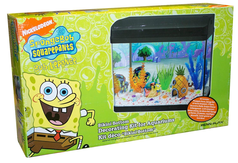 Penn Plax Sbdk1 Spongebob Aquarium Dekorations Kit Amazon De Haustier