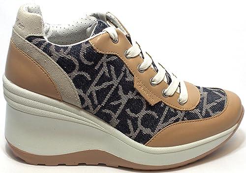 Calvin Klein Jeans Jamie RE9237 Sneakers Scarpe Donna Casual Sportive  Zeppa  Amazon.it  Scarpe e borse bc4f30ef1bd