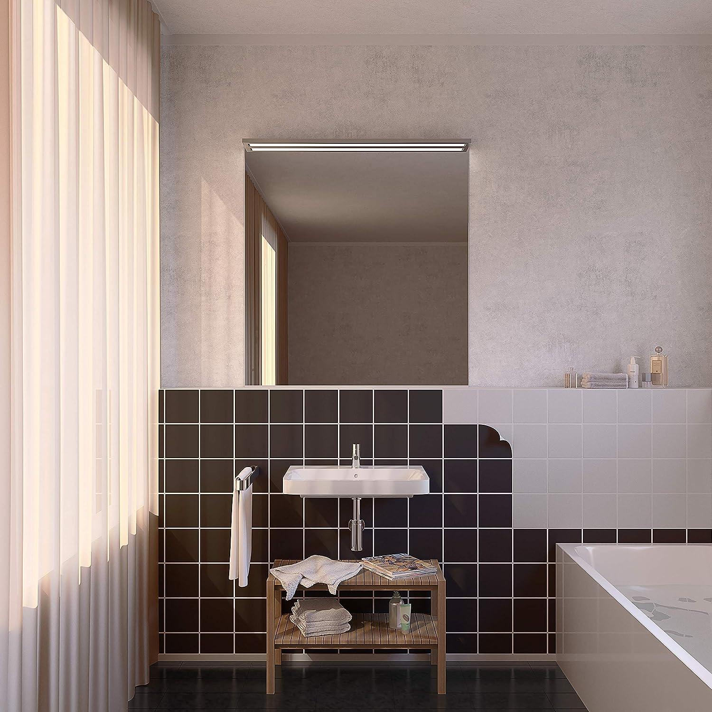 noir - brillant, 50 incubado 1PLUS Lot de carreaux autocollants en papier daluminium pour salle de bains cuisine et autres. - 15 x 15 cm