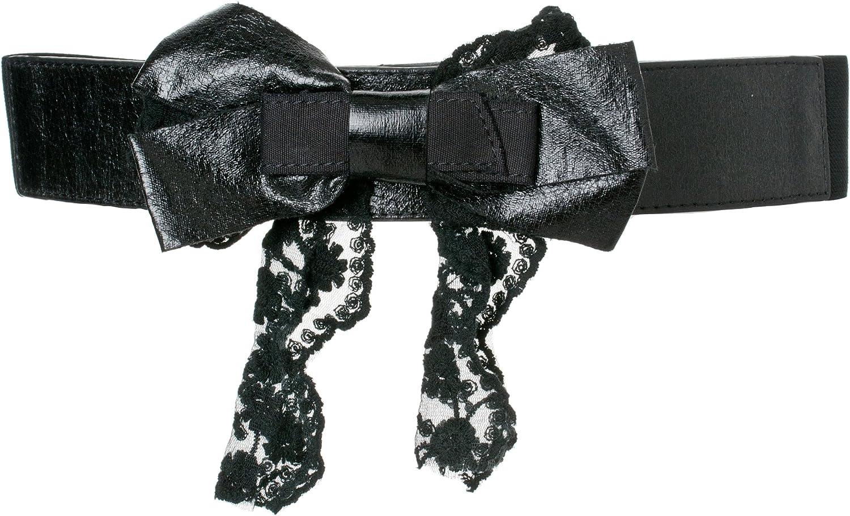 American Rag Juniors Black Bow Detail Stretch Belt